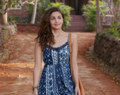 Dear Zindagi Alia bhatt Blue Dress