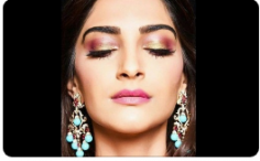 Looking for Sonam Kapoor Aqua Stone Danglers (Replica)