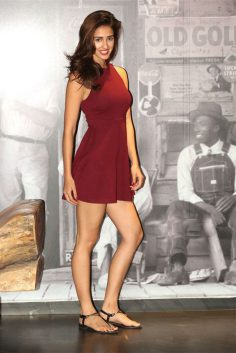 Disha Patani in Maroon Skater Dress