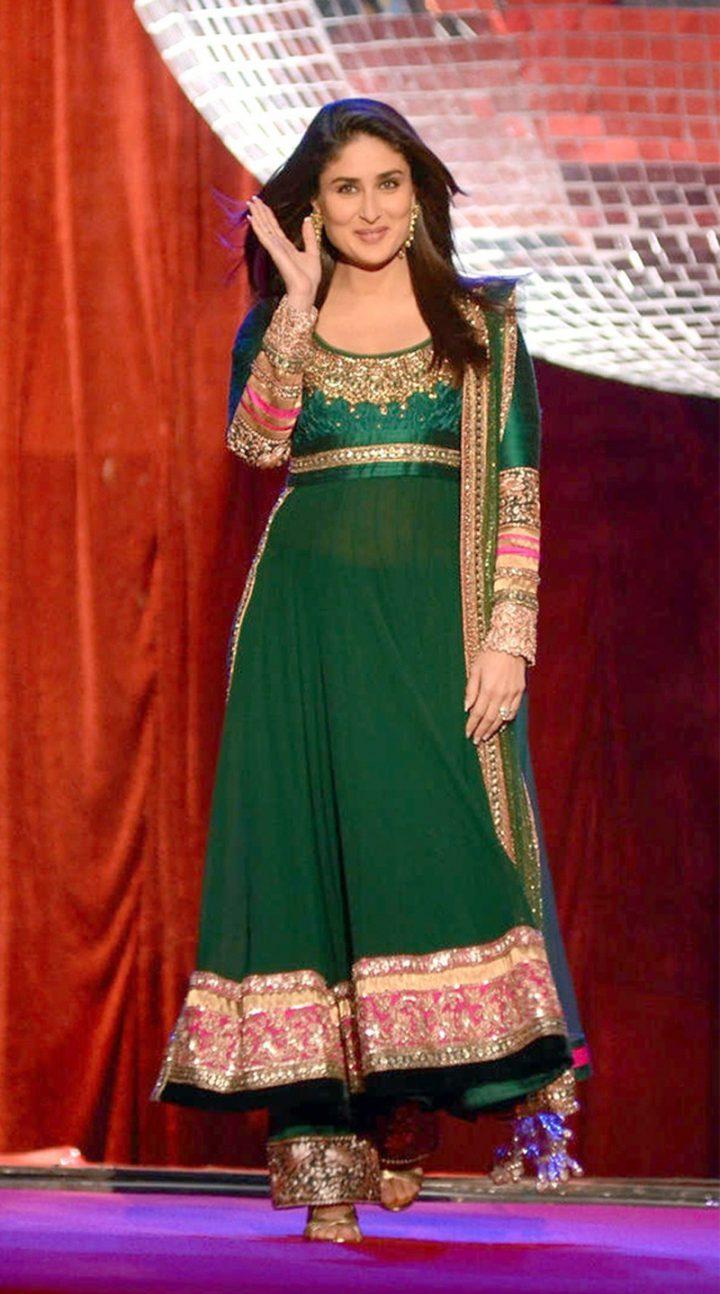 Replica Kareena Kapoor Silk & Georgette Anarkali Suit (Jhalak Dikhhla Jaa)