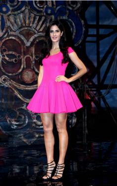 Replica Katrina Kaif Pink Skater Dress