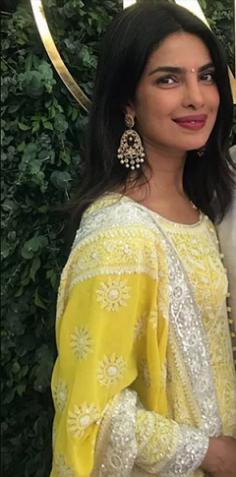 Similar Earring worn by Priyanka Chopra's on her Roka