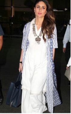 Kareena Kapoor in White Kurta