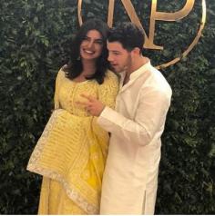 Priyanka Chopra's Lemon Yellow Engagement Anarkali (Replica)