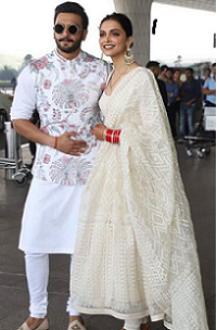 Replica of Deepika Padukon White Dupatta