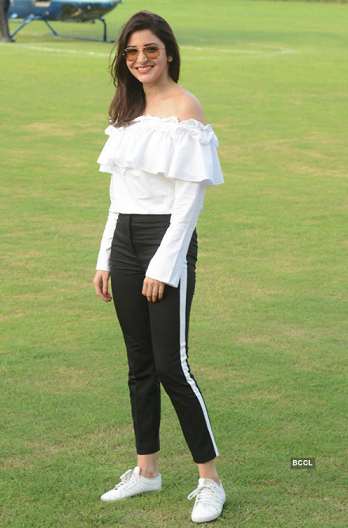 Anushka Sharma White Off Shoulder top