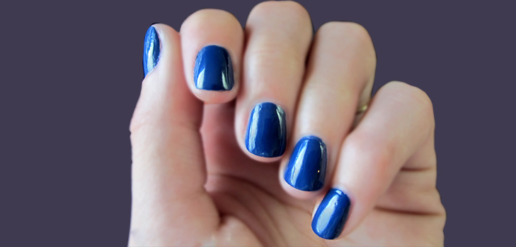 Paint it Blue with Blue Nails @TheRoyaleIndia