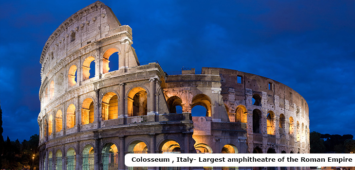 Colosseum, the largest amphitheater of Roman Empire @TheRoyaleIndia