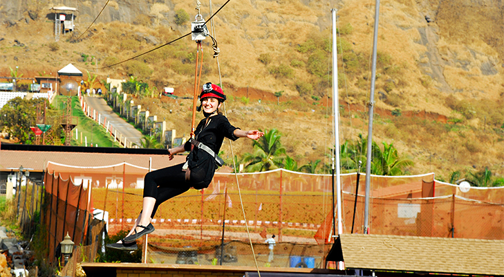 Flying Fox at Della, Lonavala @TheRoyaleIndia