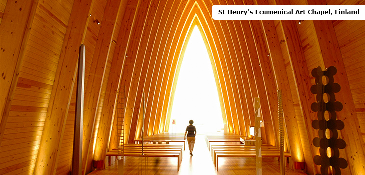 St Henry's Ecumenical Art Chapel in Finland is an enchanting chapel @TheRoyaleIndia