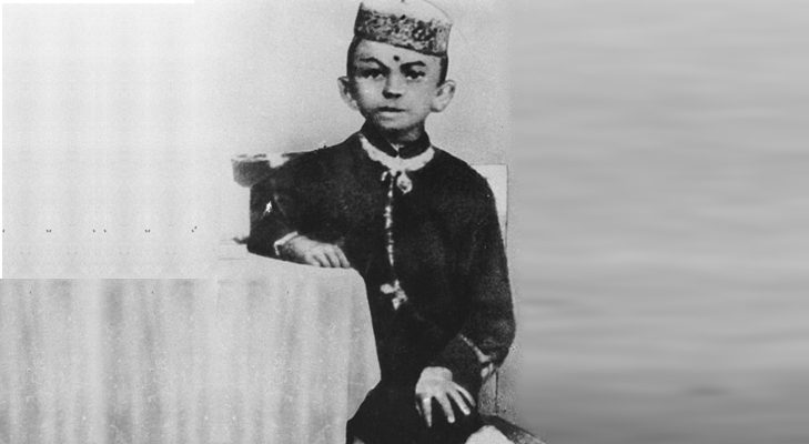 Gandhi's picture as a child @TheRoyaleIndia
