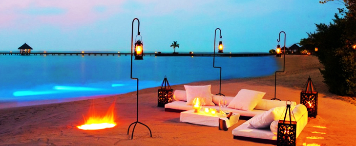 Dine by the beach at Maldives @TheRoyaleIndia