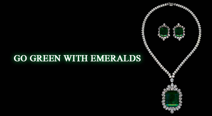 Emerald with Diamond Jewellery for all occasions @TheRoyaleIndia