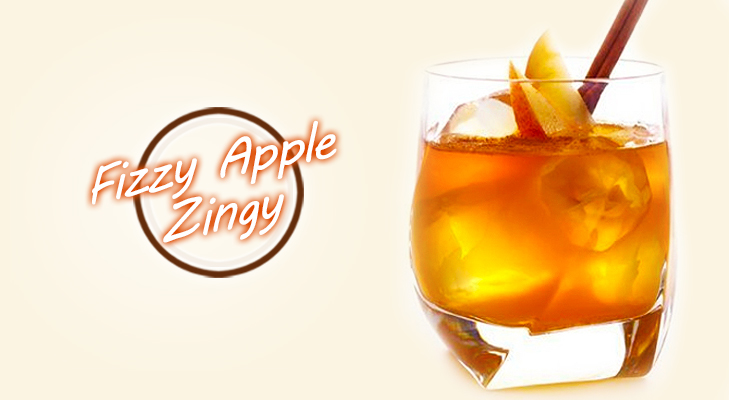 Fizzy Apple Cocktail - Zingy!! @TheRoyaleIndia
