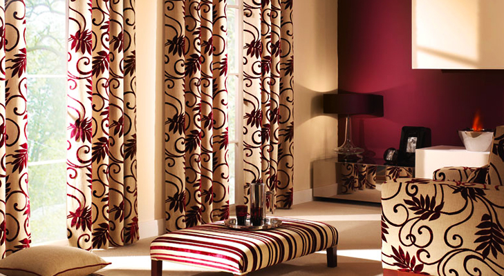 Floral Curtains to brighten up your home @TheRoyaleIndia