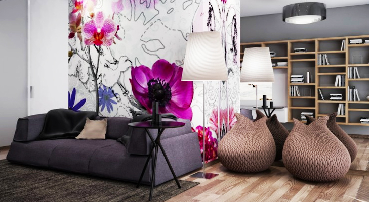 Enhance your wall with Flower Mural @TheRoyaleIndia