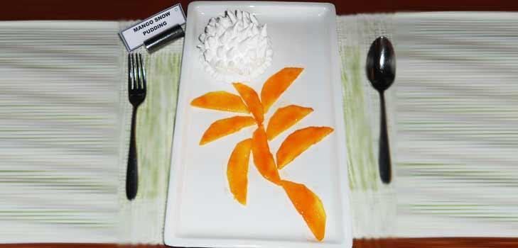 Mango Snow Pudding Recipe @TheRoyaleIndia