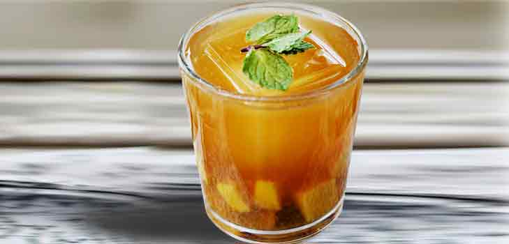 Minty Mango Tea - Summer Cooler Recipe @TheRoyaleIndia