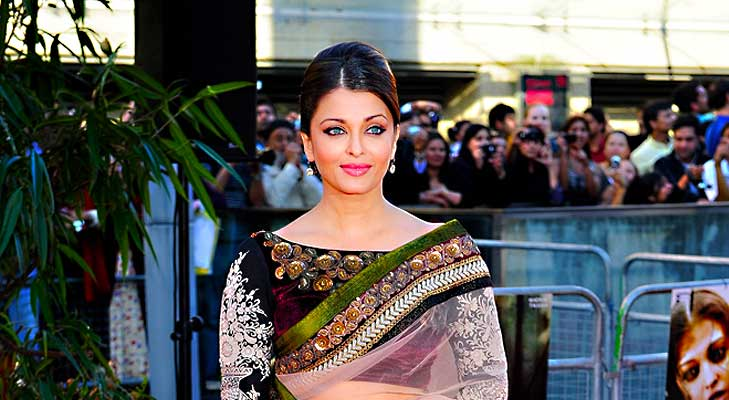 Aishwarya Rai Bachchan wearing a Indian Dress with Portrait Neckline @TheRoyaleIndia