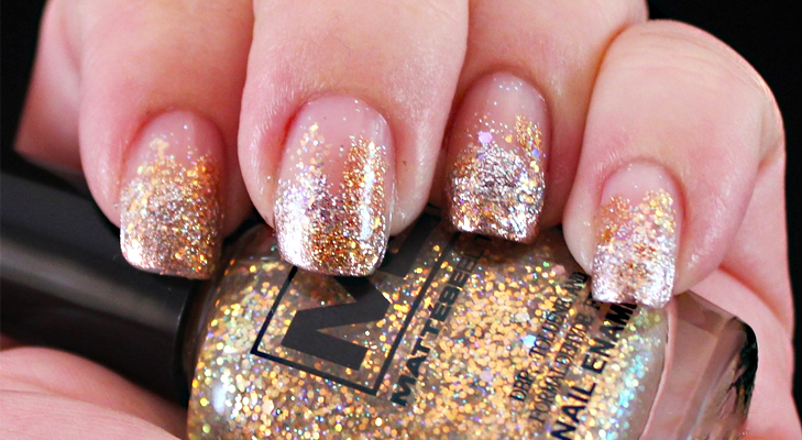 D.I.Y. Funky glitter nail art @TheRoyaleIndia