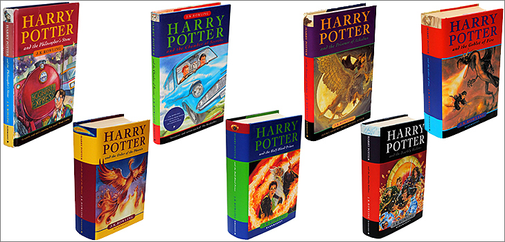 Harry Potter series by J K Rowling @TheRoyaleIndia