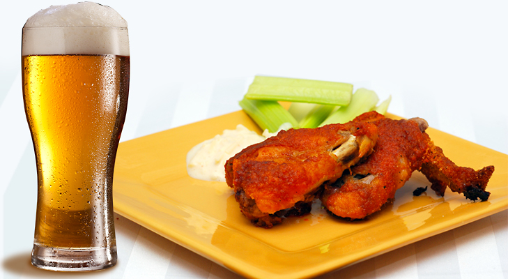 Beer with Chicken Wings @TheRoyaleIndia