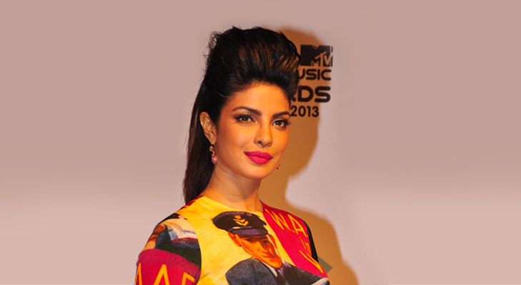Priyanka Chopra with Poofbun Hairstyle @TheRoyaleIndia