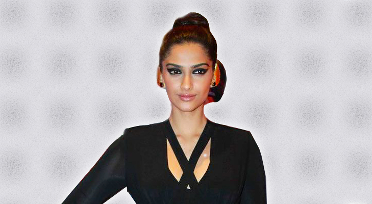 Sonam Kapoor with Balletbun Hairstyle @TheRoyaleIndia