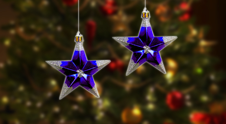 Blue Star Ornament for Christmas Tree @TheRoyaleIndia