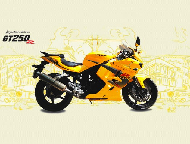 Hyosung GT250R limited edition bikes @theroyaleindia