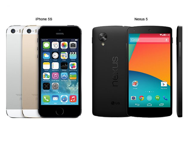 Google Nexus 5 or the iPhone 5S? @TheRoyaleIndia