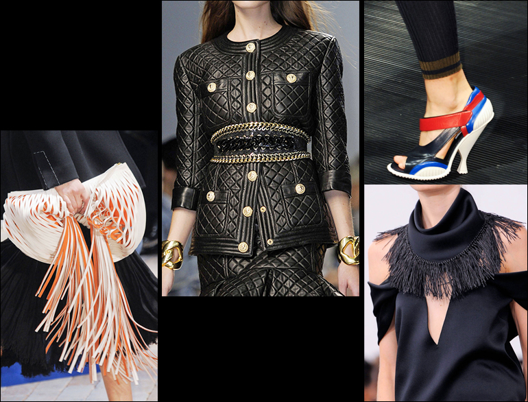 Accessories from fringed bags to athletic shoes make trend 2014