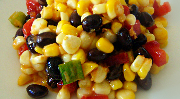 Black Bean & Corn Salad Recipe– Mexican Cuisine @TheRoyaleIndia