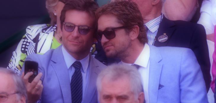 Bradley Cooper & Gerard Butler Selfie at Wimbeldon @TheRoyaleIndia