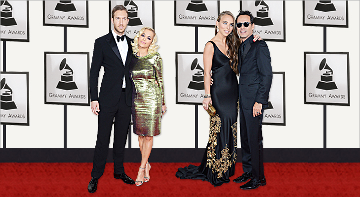 Calvin Harris, Rita Ora, Chloe Green & Marc Anthony at Grammy 2014 @TheRoyaleIndia