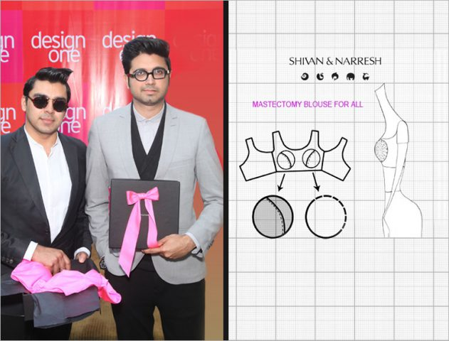Fashion Designers Shivan & Narresh with Mastectomy Blouse @TheRoyaleIndia