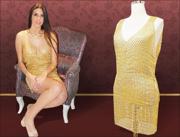 22k Carat Gold Dress @TheRoyaleIndia