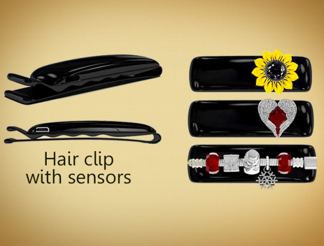 crime-fighting-hair clip-with-sensor @TheRoyaleIndia