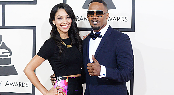 Jamie Foxx & Corinne Bishop at Grammy 2014 @TheRoyaleIndia