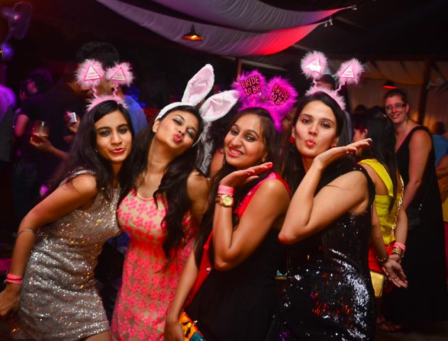 Girls letting their hair down at hen's party @TheRoyaleIndia