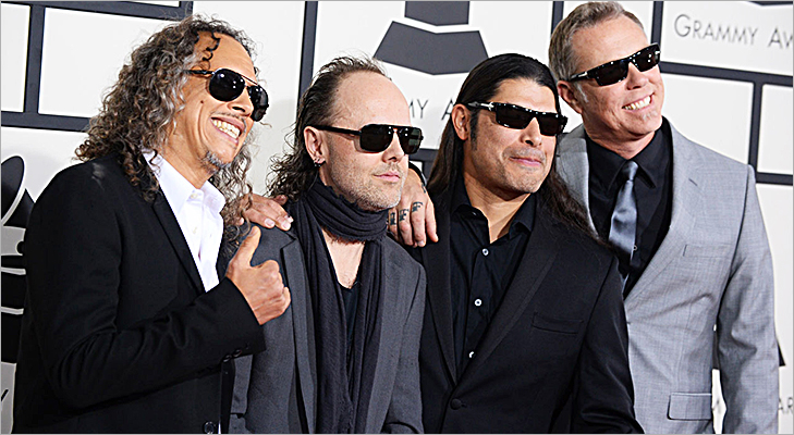 Metallica at Grammy 2014 @TheRoyaleIndia