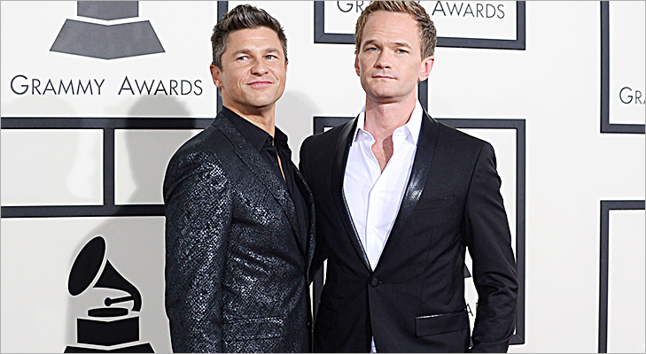 Neil Patrick Harris & David Burtka at Grammy 2014 @TheRoyaleIndia