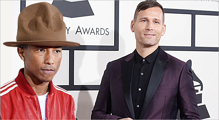 Pharrell Williams & Kaskade at Grammy 2014 @TheRoyaleIndia