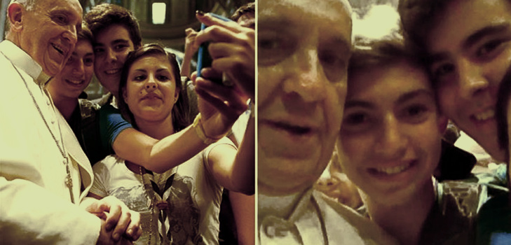 The first 'papal' selfie @TheRoyaleIndia