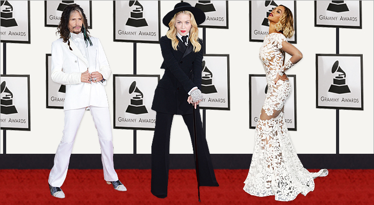 Steven Tyler, Madonna & Beyonce at Grammy 2014 @TheRoyaleIndia