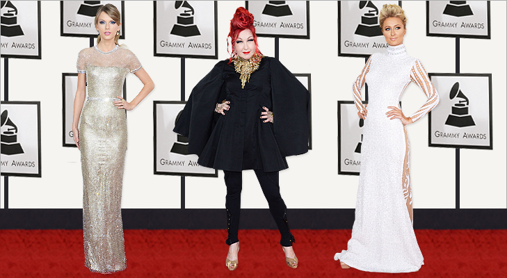 Taylor Swift, Cyndi Lauper & Paris Hilton at Grammy 2014 @TheRoyaleIndia