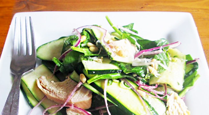 Zucchini Spinach & Pancetta Salad Recipe – Italian Cuisine @TheRoyaleIndia