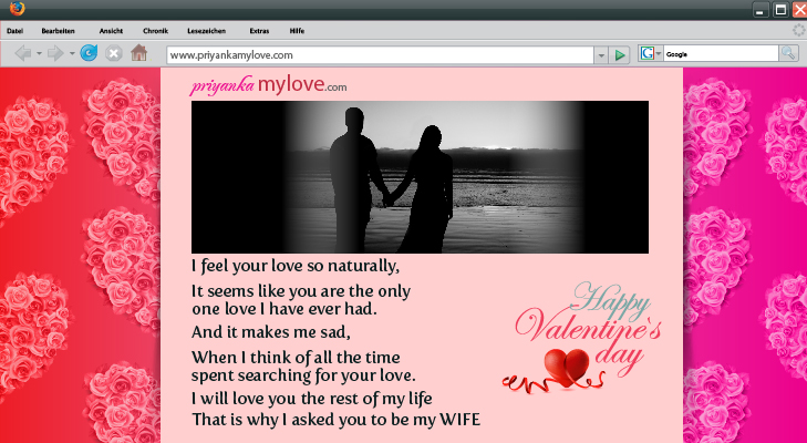 A website for valentine @TheRoyaleIndia