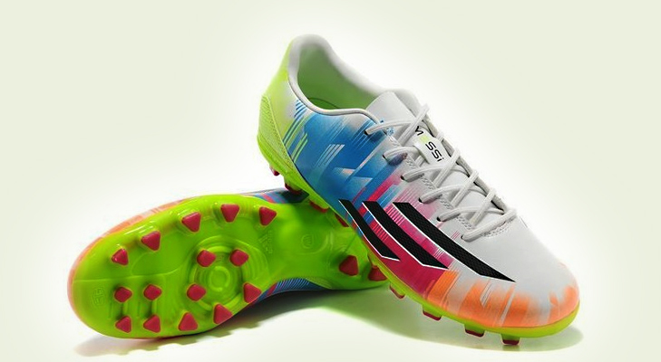 adidas f50 adizero messi ag 2014 world cup men artificial grass football shoes with white volt black @TheRoyaleIndia