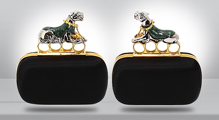 alexander mcqueen panther knucklebox clutch @TheRoyaleIndia